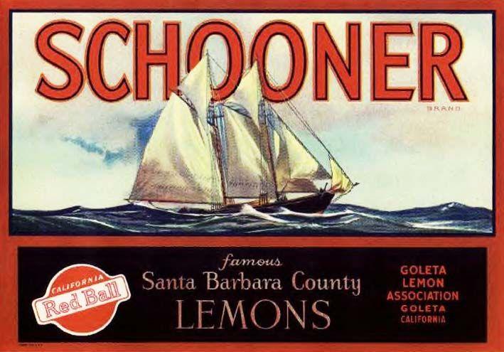 Schooner Citrus Fruits. #crateart