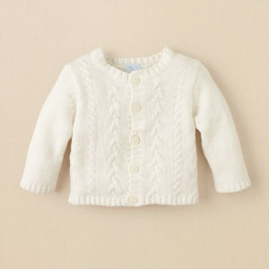 cable-knit baby sweater