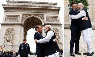 Plenty of global warming there! Macron and Indian Prime Minister Modi stand together behind the Paris Agreement  http://www.dailymail.co.uk/news/article-4569176/Macron-Indian-Prime-Minister-Modi-Paris-Agreement.html