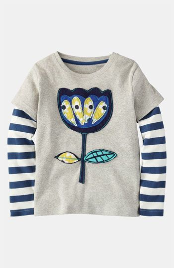Mini Boden 'Retro Appliqué' Tee (Toddler, Little Girls & Big Girls) | Nordstrom