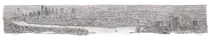 New York City Panorama by Stephen Wiltshire