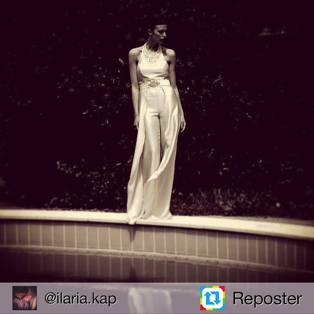 Repost from @ilaria.kap by #Reposter @307apps Repost @pastore_couture #editorial #oldpics #wedding #white #dress #tuta #silk #modellife #italianmodel #i_love_my_job #shooting #london