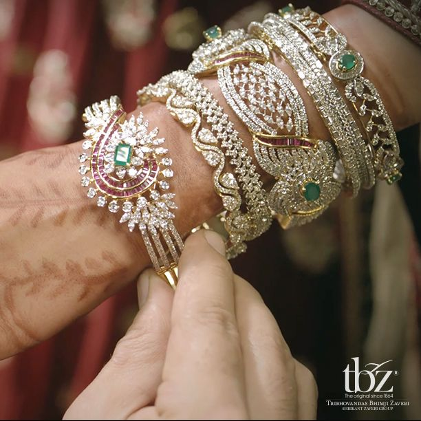 What was your most precious #wedding #gift? #WeddingsbyTBZ #Gold #Diamond #TBZ #Jewellery #Indian #Bride #Jewels #Bangles #India #Jewellers
