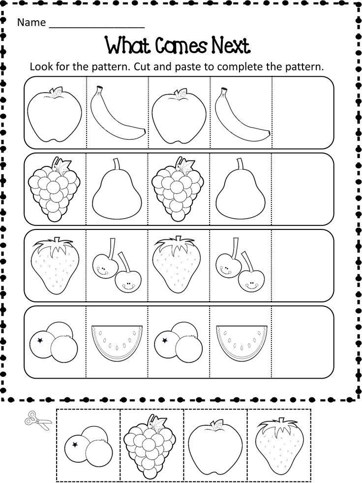 Kindergarten Math Worksheet Pattern