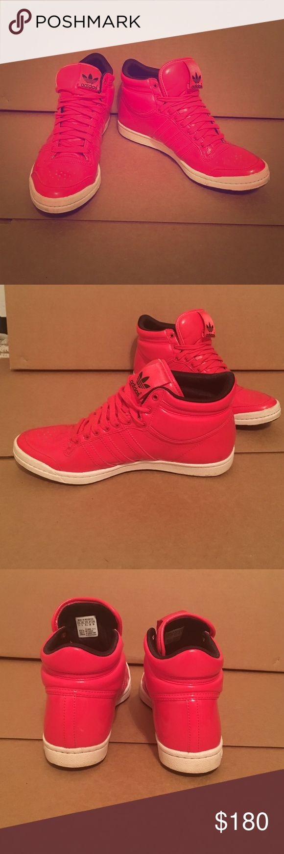 Very Rare adidas sleek series high tops size 7.5 Very rare Adidas sleek series high tops in red. These were bought in Germany. Only worn a few times in almost new condition. Adidas Shoes Sneakers
