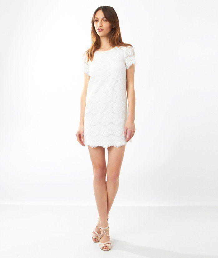 Robe blanche courte etam