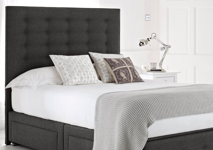 Mayfair upholstered divan bed base and headboard storage for Cheap king size divan beds with storage