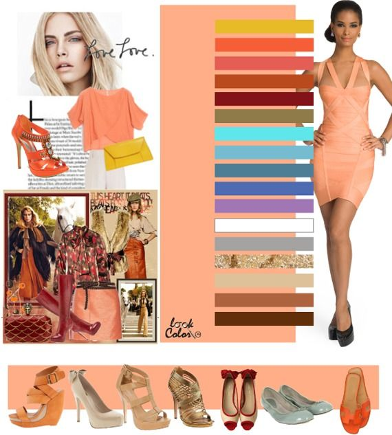 light peach coral: color combinations