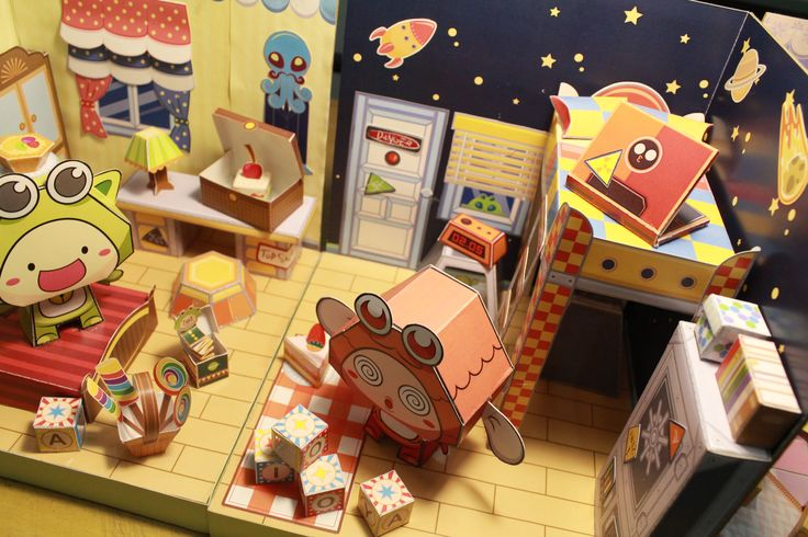Check how cool is IPo's sci fi's room :D Papertoy PiPoYa cute Gift and craft