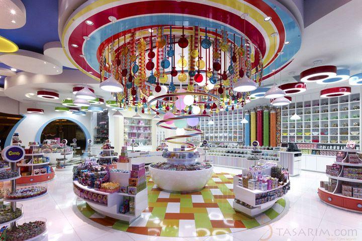 çocuk mağazaları orta stand ve raf düzenlemeleri