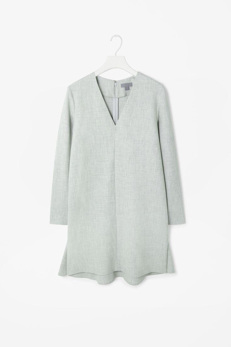 V-neck melange dress