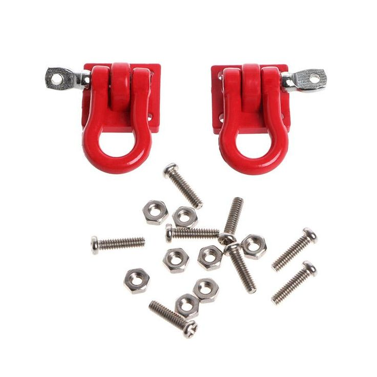 New 2Pcs 1/10 Trailer Buckle Hook For RC Crawler D90 SCX-10 Truck For RC Car Parts