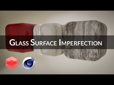 Add imperfections on Glass material with Redshift [CINEMA 4D