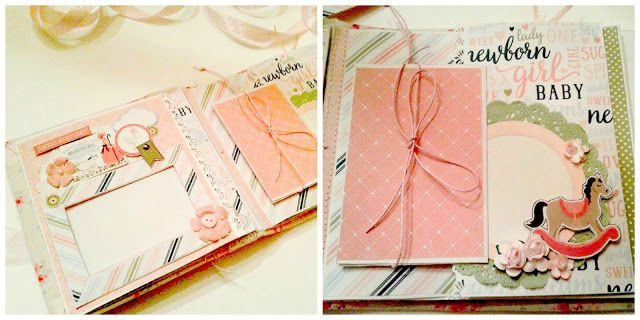 Handmade Fabric covered Mini Album