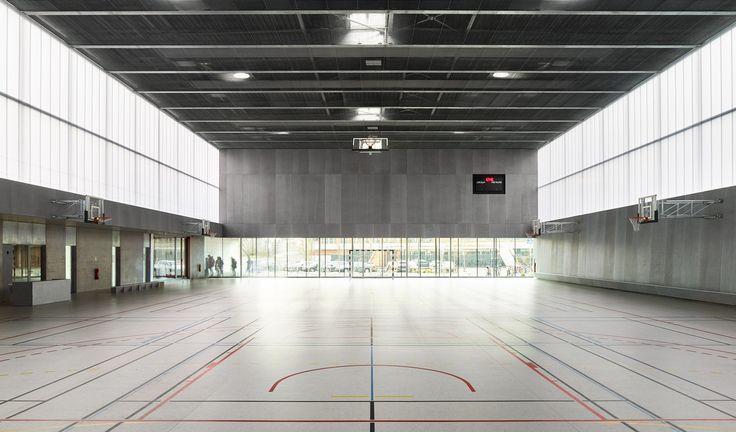 Sichtbeton in Straßburg - Sporthalle von Dominique Coulon