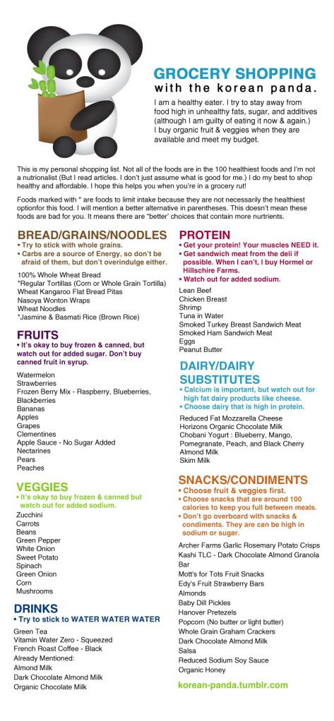 healthy grocery list via @Tabi McDonell
