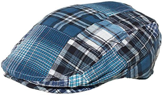 987bb8fe785b5 Broner Cotton Madras Plaid Ivy Scally Cap Driver Summer Golf Hat Jeff Flat  Slap Hat Review