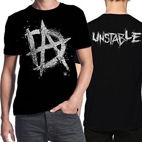 WWE Dean Ambrose Initials Unstable Mens Black T-shirt XL
