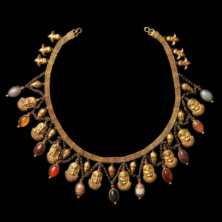 Ancient Chinese Jewelry | ARCHAEOLOGICAL TASTE NECKLACE FROM THE XIXth c. | Galerie Golconda Incredible beauty