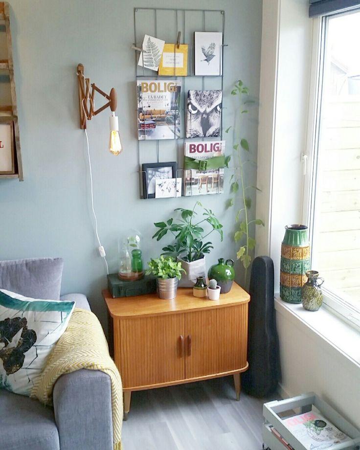 Living rom / retro home /interior / interiør design / teak /furniture / skap /mintybreeze color