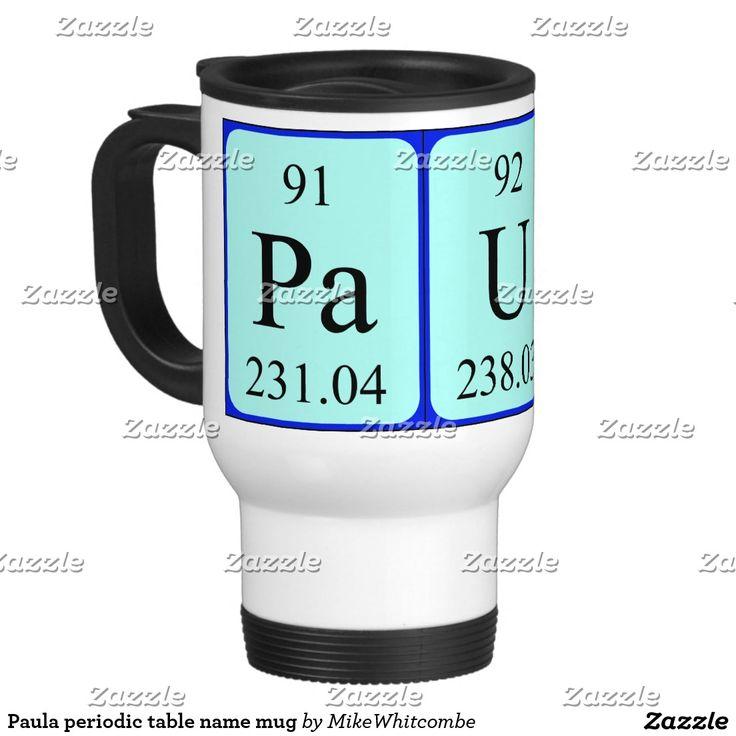Paula periodic table name mug