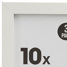 3 Pack Photo Frames - White - 10 x 15cm