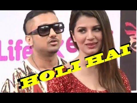 Yo Yo Honey Singh & Kainaat Arora @ LIFE OK Holi Celebration
