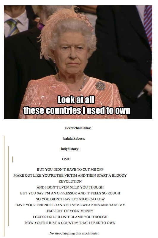 And then there's this. | History According To Tumblr