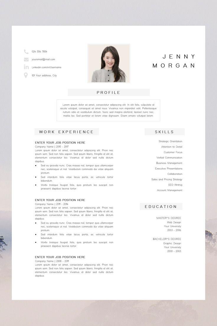 Resume Template Cv Template Simple Cv Template Teacher Resume Template Resume Design Free