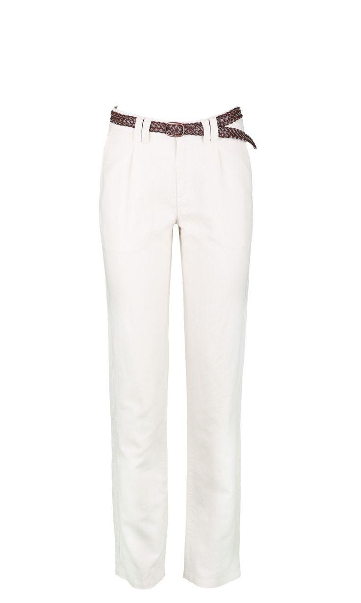pantalon  en lin PANTRYB BEIGE,vendu sur www.depechmod.fr