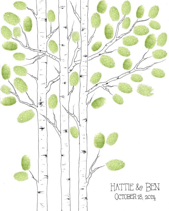 MODERN Wedding Guest Book Tree Small ASPEN tree by PaperTwig, $59.00