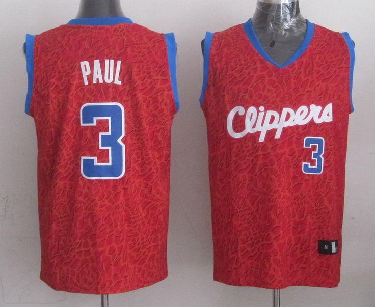 Men's NBA LA Clippers #3 Paul Crazy Light Swingman Red Jersey