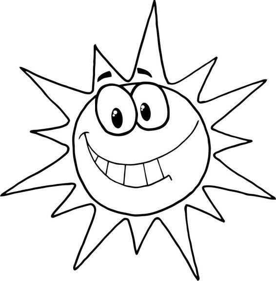 Les 25 meilleures id es de la cat gorie coloriage soleil - Dessin du soleil ...