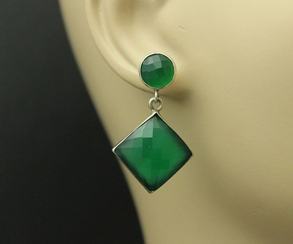 Hey, I found this really awesome Etsy listing at https://www.etsy.com/listing/188061909/faceted-earrings-square-earrings-green
