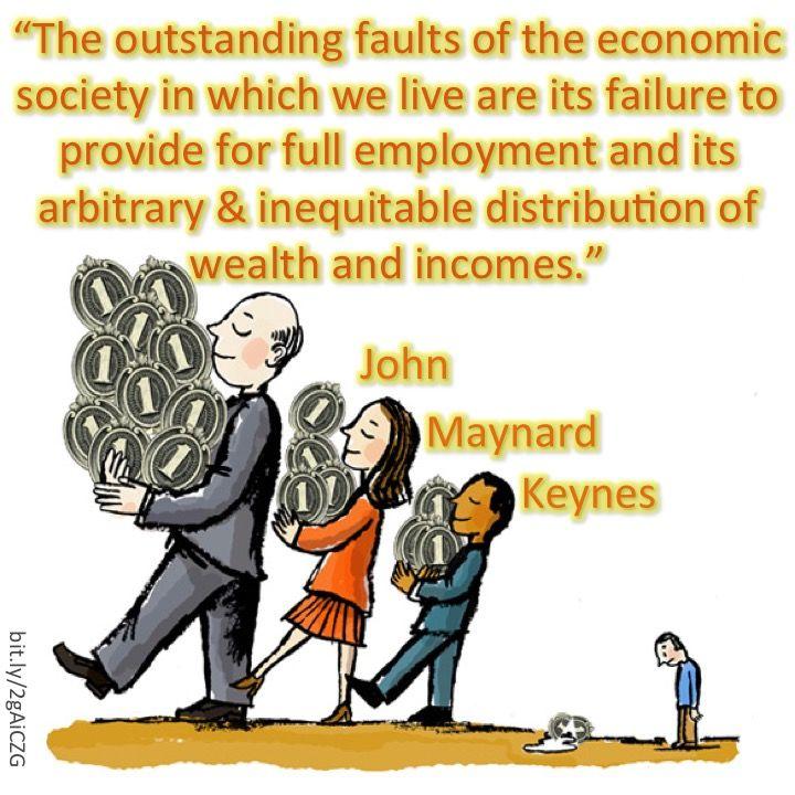 Graphic by Russell Whitehouse. #keynes #johnmaynardkeynes #keynesianeconomics #1percent #economics #economist #wealth #austerity #incomeinequality #deregulation #woke #bernie #berniesanders