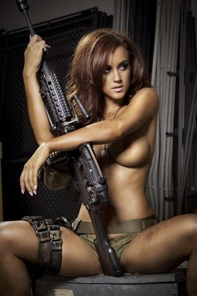 Fucking babes with guns pictures rather good