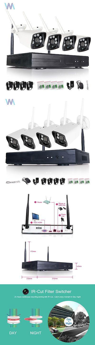 Surveillance Security Systems: 4Ch Wireless Nvr 720P Hd Ip Network Ir Outdoor Cctv Home Security Camera System -> BUY IT NOW ONLY: $186.29 on eBay!