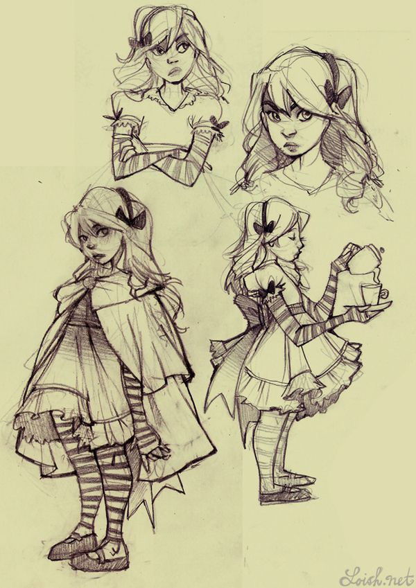 Alice in Wonderland by Lois van Baarle, via Behance ✤    CHARACTER DESIGN REFERENCES   Find more at https://www.facebook.com/CharacterDesignReferences if you're looking for: #line #art #character #design #model #sheet #illustration #expressions #best #concept #animation #drawing #archive #library #reference #anatomy #traditional #draw #development #artist #pose #settei #gestures #how #to #tutorial #conceptart #modelsheet #cartoon #toddler #baby #kid