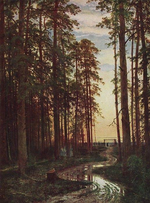 Вечер в сосновом лесу 1875 116х87. 7. Иван Иванович Шишкин