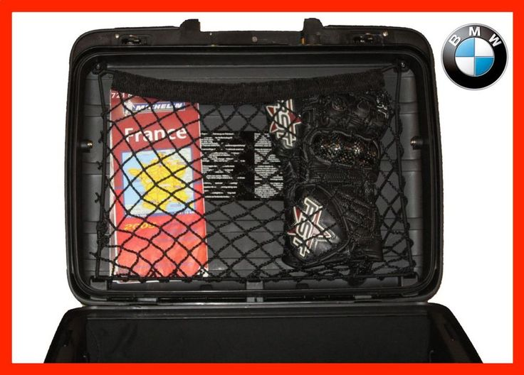 Custom made cargo net for Vario top box / side case panniers for BMW R1200GS
