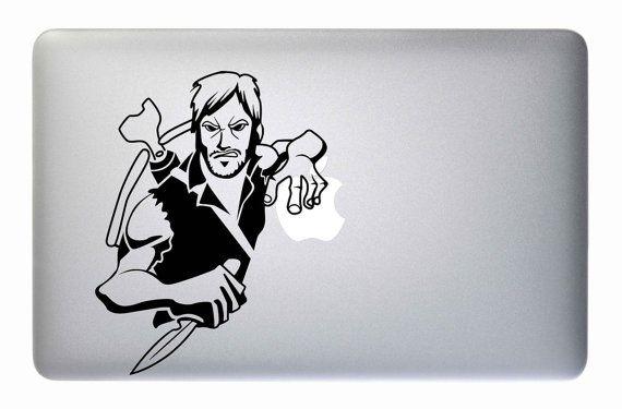 """Walking Dead Daryl Dixon - Apple ordinateur portable Macbook autocollant Sticker vinyle Mac Pro Air rétine 11"""" 13"""" 15 """"17"""" pouces housse Skin"""