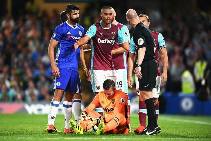 Diego Costa escaped punishment for a late second-half challenge on Adrian Read more at http://www.whufc.com/News/Articles/2016/August/15-August/Bilic-frustrated-by-Chelsea-defeat#IE33LqPxMFWehjHz.99 #CHEvWHU