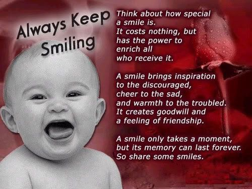 Always Keep Smiling quote smile life lifequote