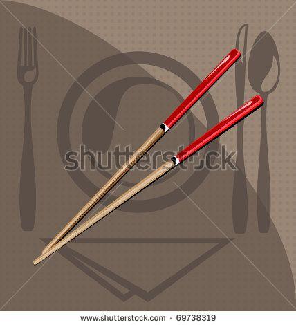 Spoon Chopsticks Illustration 스톡 사진, Spoon Chopsticks Illustration 스톡 사진, 스톡 이미지 Spoon Chopsticks Illustration개 : Shutterstock.com