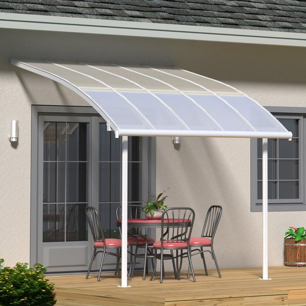 Joya 10 Ft W X 10 Ft D Plastic Standard Patio Awning Diy Pergola Kits Pergola Pergola With Roof