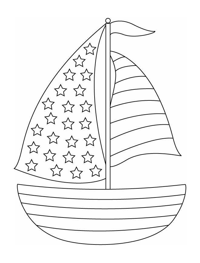 Coloriages La mer Bateau 03