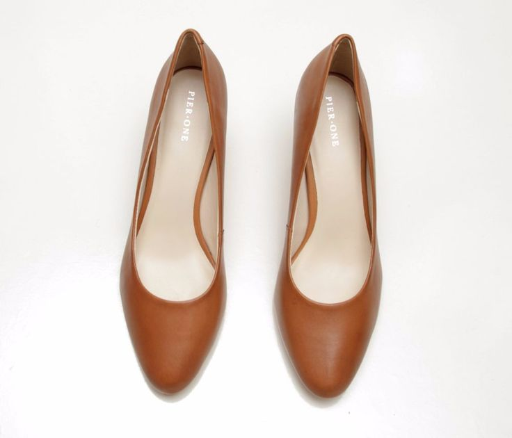 Women's PIER ONE High heel Heels leather  ankle court shoes uk 7 /eu 40 Brown   #fashion #clothing #footwear #dress #shoes #womenshoes #accessories