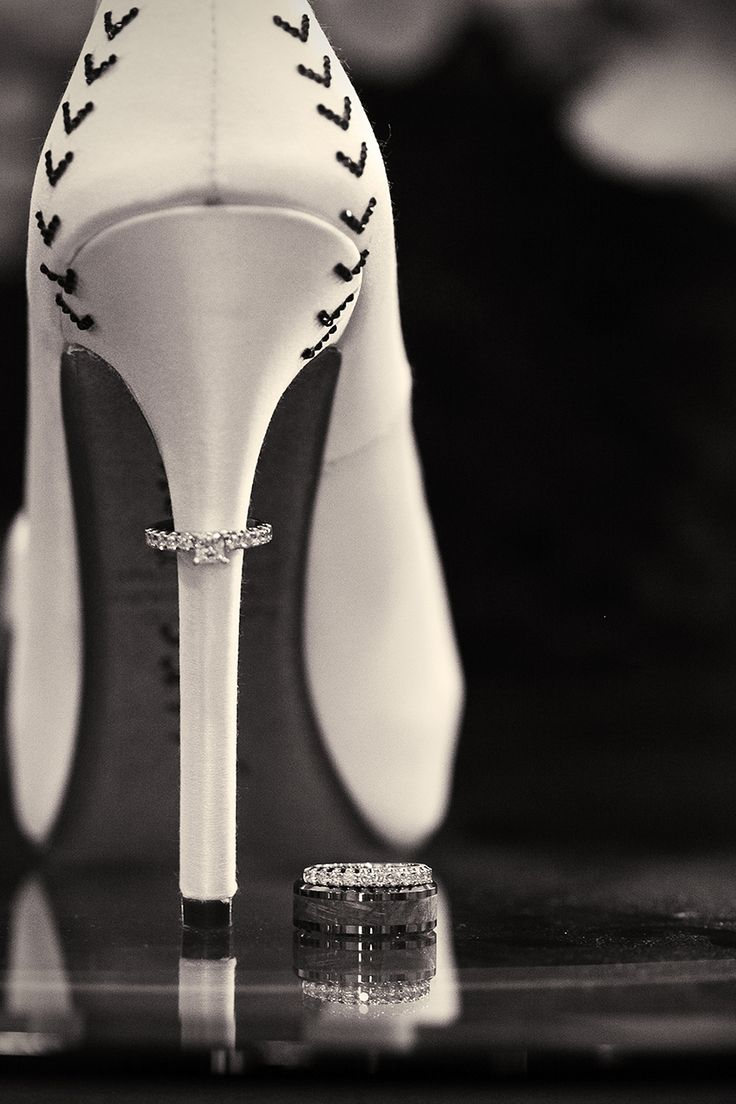 Wedding Rings | Wedding Bands on Bride Shoes | Baseball Themed Wedding | Sacramento, California | Photography For A Reason