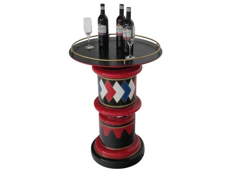 B0568 - Vintage Barber Pole Display Table - 1 - B0568 - Vintage Barber Pole Display Table - 1.jpg