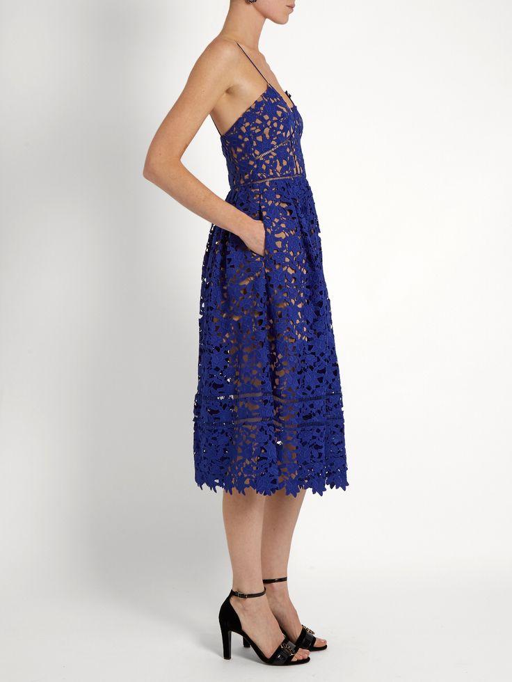 Azaelea lace midi dress | Self-portrait | MATCHESFASHION.COM UK